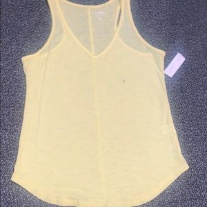 New York and Company Yellow Tank Top